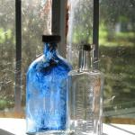 Neat antique bottle and its friend at Harrington House