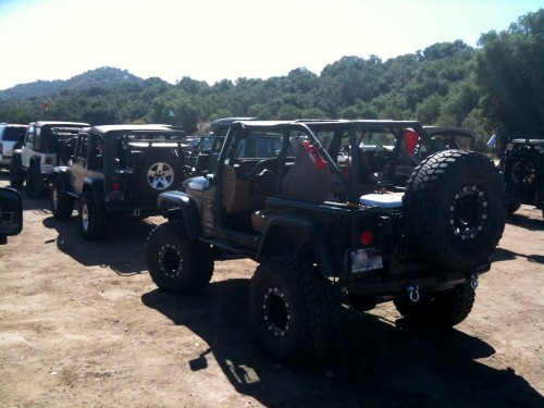Lining up to start on the trails